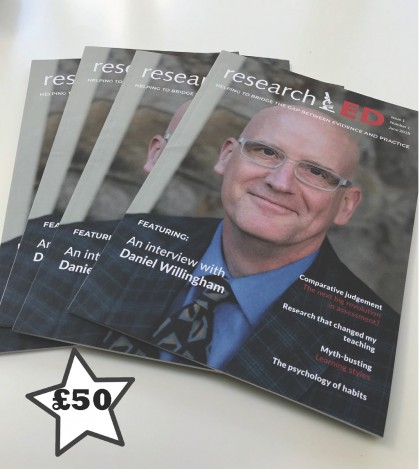 researchED magazine £50 donation